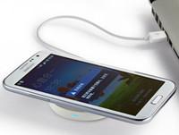 ingrosso il miglior pad di ricarica di qi-Kit di ricarica per caricabatterie di ricarica universale Qi senza fili di ottima qualità per iPhone Samsung con confezione