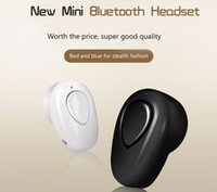 Wholesale Super Small Bluetooth Headset - S520 Mini Bluetooth Earphone Stereo Wireless Invisible small Headphones Super Headset Music handfree for iphone samsung mobile