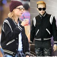 Wholesale Women Plus Size Baseball Jacket - Fall-Plus size 2016 Fashion brand streetwear patchwork bomber jacket men Varsity Jacket coat stylish baseball jacket women coat