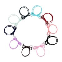 Wholesale Cheap Accessories Wholesale Korean - 10pcs lot Cheap 2017 Korean Cute Elastic Hair Rope Ponytail Holder For Kids Girls Hair Accessories free shipping[JH01086*10]
