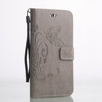 Wholesale Desire X Leather - Strap Flower Wallet Leather Pouch Case For Iphone X HTC Desire 826 Huawei P9 Plus V8 Honor 5C Y6 PRO Y3 Y5 II Butterfly Card Stand TPU Skin