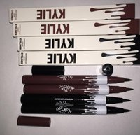 Wholesale Wholesale Hot Cosmetic - Hot Kylie Jenner Black Brown Liquid Eyeliner Long-lasting Waterproof Eye Liner Pencil Pen Nice Makeup Cosmetic Tools Kylie