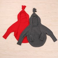 Wholesale Red Dolman Sweater - Wholesale Boys Girls Childrens Hooded Sweaters Dolman Sleeve Pullover Hoodies Autumn Winter Poncho Outwear Kids Clothes Enfant Sweaters