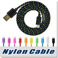 Wholesale black blue purple braids resale online - Micro USB Cable S7 S6 High Speed Nylon Braided Cables Charging Sync Data Durable
