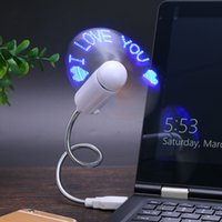 Wholesale Usb Flashing Fan - Unboxing and review of Programmable USB LED Fan USB Powered can change the word fan LED flash the word fan