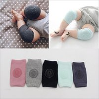 Wholesale Baby Crawling Leggings - Baby Socks Knee Protector Anti Slip Knee Pads Toddler Safety Crawling Elbow Cushion Newborn Leg Warmers Kids Cotton Fashion Leggings B2594