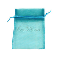 """Wholesale Teal Candy - Wholesale- 4"""" x 6"""" (10cmx15cm) 100pcs lot Teal Blue Strong Sheer Organza Pouch Wedding Party Favors Jewelry Gifts Candy Bags & Pouches"""
