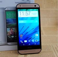 "Wholesale One Android Phone 13mp - Original M8 Mini Unlocked HTC One Mini 2 Mobile Phone 4.5"" TouchScreen 1GB RAM 16GB ROM 13MP Camera WIFI GPS Multilanguage"
