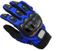nylon motorrad handschuhe großhandel-Freier Verschiffen-im Freiensportvollfinger-Ritterreitmotorradhandschuhe 3D Breathable Ineinander greifen-Gewebemänner lederner sich fortbewegender Handschuh