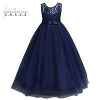 Venta al por mayor de Vestidos De Niña De Flor Azul Marino - Comprar ... 21901eb4e8f9