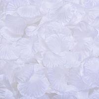 Wholesale Rose Wedding Garland - MIC Hot sell 4000Pcs White Silk Rose Petals Wedding Supplies Flowers Favors Decoration Flowers Petals Garlands