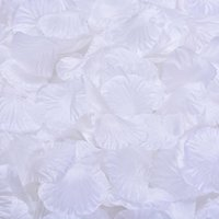 guirlande de fleurs de soie chaude achat en gros de-MIC Vente chaude 4000 Pcs Blanc Soie Pétales de Rose De Mariage Fournitures Fleurs Faveurs Décoration Fleurs Pétales Guirlandes