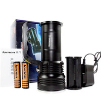 Wholesale High Power Led Flashlight Bulbs - Hot Sale Super Bright LED Rechargeable Flashlight High Power Portable Searchlight Outdoor Emergency Light Camping Lamp