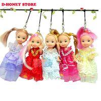 Wholesale Dresses Suite - Moveable Joint Body Princess Shirley Doll 10cm Wedding Design Dress Suite Kids Toy phone bag pendant