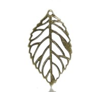 "Wholesale Bronze Headband - Zinc metal alloy Charm Pendants Leaf Antique Bronze 24.0mm(1"") x 13.0mm( 4 8""), 20 PCs 2015 new"