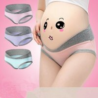 Wholesale Pregnancy Woman Clothes - 6 Colors Pregnancy Briefs Maternity Panties Lady Clothes Pregnant Women Underwear U-Shape Low Waist Maternity Underwear CCA7386 60pcs
