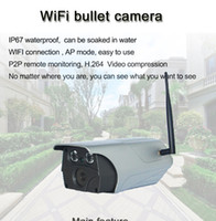Wholesale H 264 Wifi Outdoor Camera - T7A 960P wireless camera waterproof can be soaked in water wifi connect H.264 video compression 32bit CMOS AT