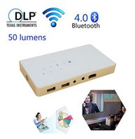 Wholesale Mini Video Theater - Mini Projector LED Full HD 1080P Projector Smartphone Portable Projector DLP Tech Wifi Home for 120 inch cinema Theater Pocket Held HDMI USB