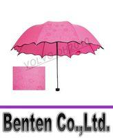 Wholesale Vinyl Coat Black - Treat water bloom female folding umbrella umbrella vinyl uv flowering portable solar umbrella under the influence of water hit in LLFA88