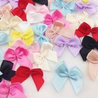 Wholesale Mini Gift Bows - 200pcs Mini Satin Ribbon Flowers Bows Gift Craft Wedding Decoration B176