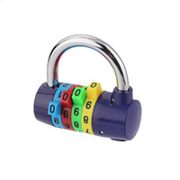 Wholesale 5Pcs digits colorful combination padlock Locker room door lock Coded Padlock random color DL_HPL006