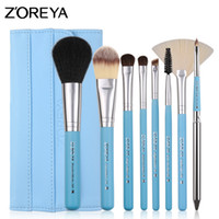 Wholesale essential makeup tools online - Zoreya Brand Colorful Pc Pony Hair Make Up Brush Set With Super Soft Leather Bag As Essential Makeup Tools For Daily Beauty