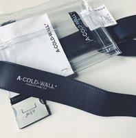 Wholesale Inclined Shoulder Bag - A COLD WALL ACW LEATHER PVC waist bag Inclined shoulder bag messenger transparent bags metal decoration Utlity Hardware