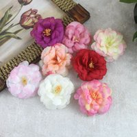 Wholesale bridal clips brooches resale online - Little Peony Flower Hairpin Bohemian Bridal Gradient Multilayer Flower Headdress with Clip Brooch Corsage Hair Head Clip Headwear