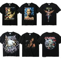 Wholesale Best Long Shirt Fashion - 2017 NEW 13 style Best version Justin Bieber KANYE WEST JAY-Z BIGGIE Classic TUPAC Printing unisex Men Women T shirt Hiphop Fashion 2PAC Tee
