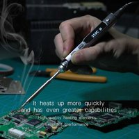 Wholesale Mcu Digital - Pen-type MINI Programmable Smart Digital LCD Adjustable temperature Electric Electric soldering iron Soldering station ARM MCU