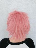 Wholesale Natsu Wig - wig MCOSER New Designed 35cm Long Short Synthetic sAo no Exorcist Fairy Tail-shima renzou Natsu Dragneel Cosplay Wig