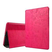Wholesale Ipad Mini Cases Paris - Retro Paris Exotic Fashion Smart Flip Case for iPad 4 5 6 mini 2 3 4 air 1 2 pro 9.7 with Retail Package