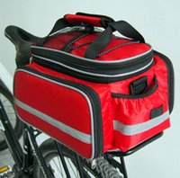 Wholesale Bike Rear Panniers - mountain bike shelf bags with waterproof cover nylon 750g bicycle Pannier Bags 15-25L free shipping