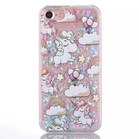 Wholesale Iphone Case Adorable - For iPhone 7 Plus Case Creative Liquid Glitter Design Quicksand Bling Adorable flowing Floating Moving Shine Glitter Case iPhone 6 6S Plus