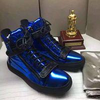 Wholesale Black Mesh Sheet - Hot Sales Fashion Brand Shoes Men Women Casual Low Top Black Leather Sports Shoes Double Zipper Flat Men Sneakers Iron Sheets Shoes