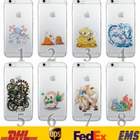 Wholesale Iphone Back 4s Style - 60 Style New Poke Pikachu Transparent TPU Soft Phone Cell Case Iphone4 4S 5 5S Iphone6 6Plus Cartoon Back Cover Protection SZ-C12