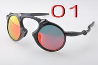 en iyi güneş gözlüğü markaları toptan satış-En kaliteli Güneş Gözlüğü X Metal Madman OO6030 Spor Polarize Marka tasarımcısı Güneş Gözlükleri Iridyum Ateş Yakut Kırmızı Mens Kadınlar Açık kutu