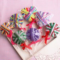 New Cute lollipop baby Hairbands Girls candy bungee Bambini Accessori per capelli Kids Hair Things multicolore anello per capelli 24pcs / one lollipop