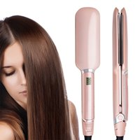 Wholesale Infrared Ceramic Heat - Infrared Hair Straightener with Elegant Ceramic Professional 2 Inch Wide Plates Flat Iron MCH Technology Instant heat up to 450F WT-092