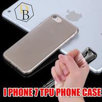 Wholesale I Phone Gel - For Iphone 7 Case TPU I phone 6S Case Ultra Thin 0.3mm Clear Iphone 6 6s Case Soft Transparent gel I phone7 plus Case Back Case Opp Bag