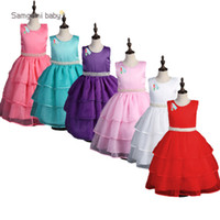 Wholesale veil green resale online - Retails latest baby girls princess veil dress children boutique with pearl tired mesh tutu bubble skirts for party kids girl s dress