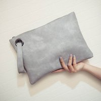 Wholesale Envelope Leather - Fashion solid women's clutch bag leather women envelope bag clutch evening bag female Clutches Handbag Immediately shipping