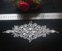 Wholesale Decoration For Belts - 1pcs Deluxe Rhinestone Acrylic Trim Applique Crystal Bridal Sash Belt For Wedding Bridal Dress Sash Wedding Decoration