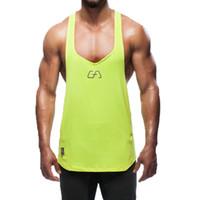 Wholesale Boys Singlets Tank Tops - Snapback Gym Tank Tops Men Fitness Mens Red Tanktop Mens Shirt Gold Men's Bodybuilding Aesthetics Mens Singlets Boys Sport