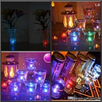 Flickering subaquático cintilação sem fogo LED Tealight chá Velas à prova d'água Light Battery Operated Wedding Birthday Party Xmas Decoration