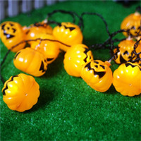 5M 20 LED Pumpkin LED String Light AC110 / 220V Orange Pumpkin Lights Halloween Christmas Holiday Décoration Lanternes Léger imperméable à l'eau