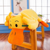 Wholesale big plush duck resale online - Dorimytrader Big Cartoon Duck Plush Toy Stuffed Soft Animal Yellow Duck Pillow Doll cm inches Friends Children Gift DY61651