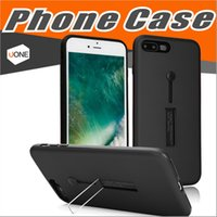 Wholesale Double Layer Ring - 2 in 1 Double Layer Ring Stand Holder Case for iPhone X 8 7 Plus for Samsung S8 Plus Case Back Cover Capa Fundas