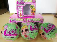 Wholesale Baby Matching Eggs - Big Surprise LOL Ball Doll Lil Sisters Series 2 Magic Funny Removable Egg Doll Baby Girl Dress Up Toys With Match Accessories