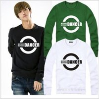 Wholesale Black White Jazz Dancers - Free shipping New Fashion hip hop clothes DANCER boy waackin house jazz sweatshirt hiphop dancing clothing 9 color